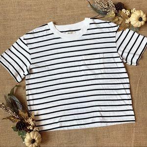 Madewell Oversized Stripe Short Sleeve Shirt